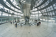 Germany, Berlin, view inside glass dome of Reichstag - PA000437
