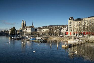 Switzerland, Zurich, view to Limmat River and Limmatquai - ELF000892