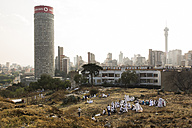 South Africa, Johannesburg, Hilbrow with Ponte Tower - TK000276