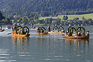 Traditional parade on Lake Schliersee, Bavaria, Germany - SIE005105