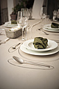 Festive laid table with individual table decoration - ONF000401