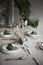 Festive laid table with individual table decoration - ONF000404