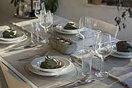 Festive laid table with individual table decoration - ONF000408