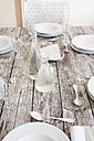 Festive laid table, partial view - LVF000755