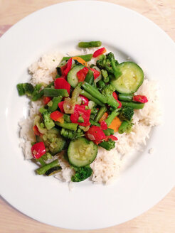 Dish with rice and vegetables, Healthy Eating - AFF000014