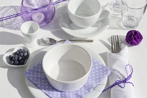 Festive laid breakfast table - YFF000051