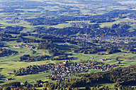 Germany, Bavaria, Chiemgau, View from Hochries to Grainbach - SIEF005122