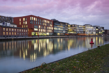 Germany, Munster, View of city harbor - WIF000448