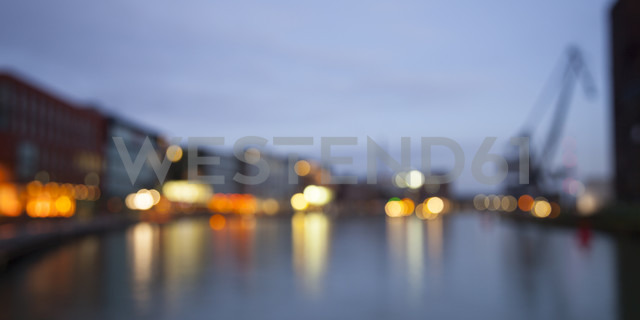 Germany, Munster, View of city harbor, blurred - WIF000460