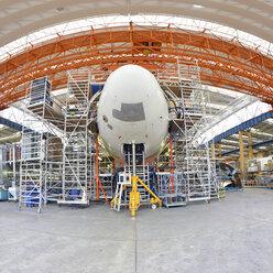 Airplane construction in a hangar - SCH000004