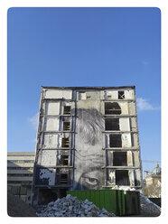 Graffiti on a house demolition, Germany, Berlin - BFR000368