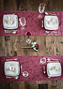 Festive laid table for four persons, elevated view - SARF000296
