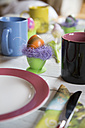 Festive laid breakfast table with Easter egg - SARF000306