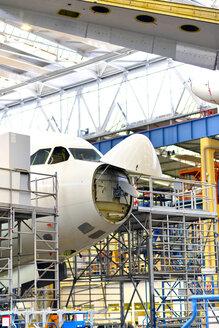 Airplane construction in a hangar - SCH000044