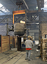 Germany, man at work in foundry - SCH000097