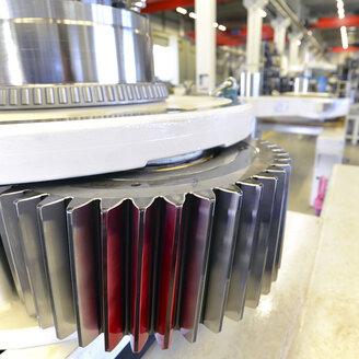 Germany, Production of wind tubines, cogwheel for turbine gear - SCH000116