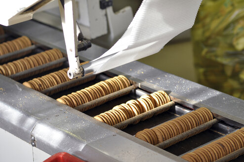 Germany, Food Industry, Cookie production in industrial bakery - SCH000089