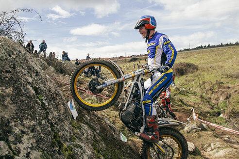 Spain, Madrid, El Molar, Motorcycle trials competition - AMC000061