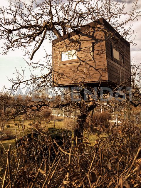 tree house in garden plot, Berlin, Germany - FBF000261 - Frank Blum/Westend61