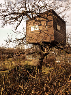 tree house in garden plot, Berlin, Germany - FBF000261