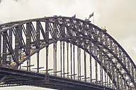Australia, Sydney, people climbing up Harbour bridge - FBF000287