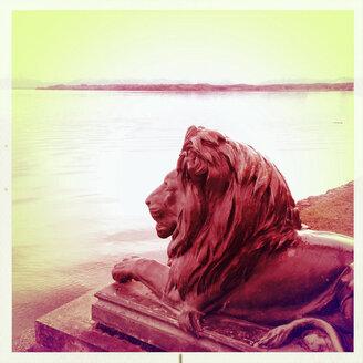 Bavarian Lion, Lake Starnberg Tutzing, Bavaria, Germany - GS000795