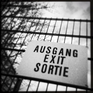 Exit sign, Germany - WDF002383