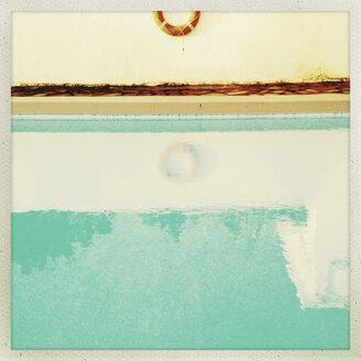 Spain, Canary Islands, La Palma, Life saver at hotel pool - MS003449