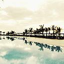 Spain, Canary Islands, La Palma, Hotel pool - MS003426