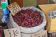 Sri Lanka, Giragama, Mangalagama, Chili in a street shop - AM001912