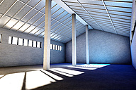 Architecture visualization of an empty industrial building, 3D Rendering - SPCF000020