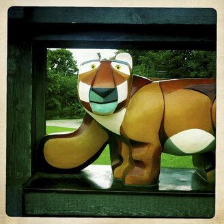 Wodden Tiger, Children's Playground, Munich, Germany - GS000811