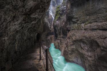 Germany, Bavaria, Werdenfelser Land, Partnach Gorge near Garmisch-Partenkirchen - RJF000028