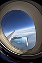 View out of airplane window - EJWF000392