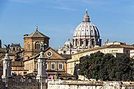 Italy, Rome, St. Peter's Basilica seen from Ponte Sant'Angelo - EJWF000357