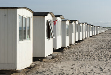Denmark, Jutland, Lokken, Beach Huts - JB000073