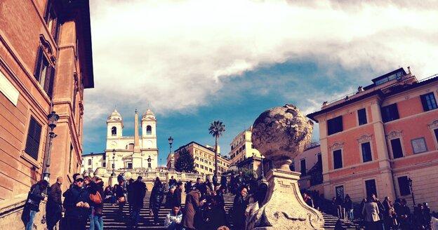Spanish Steps, Piazza di Spagna, Scalinata di Trinita dei Monti, Rom, Italy - RIM000149