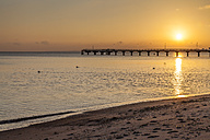 Germany, Timmendorfer Strand, Baltic Sea with sea bridge - SR000399