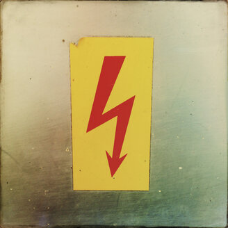 Warning Sign, flash, electric shock - GSF000848