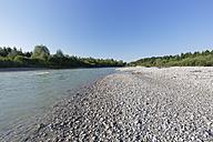 Germany, Upper Bavaria, Isarauen, Geretsried, gravel bank at Isar - SIEF005171