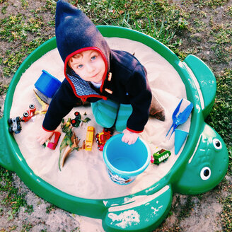 little boy playing in the sand box, Potsdam, Germany - AF000045
