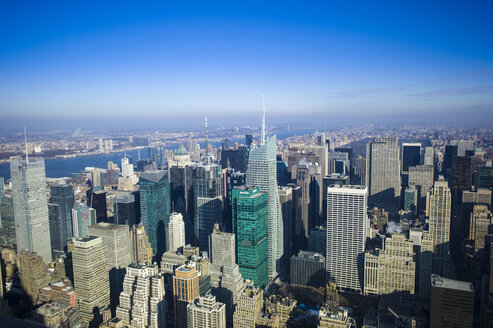 USA, New York, Manhattan, view to  skyline from above - JWAF000017