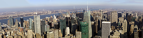 USA, New York, Manhattan, view to  skyscrapers from above - JWAF000015