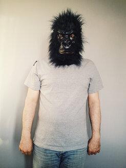 Man in gorilla mask posing - ZMF000264