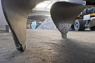 Clamshell of an excavator shovel in a scrap metal recycling plant - LAF000839