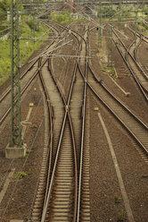 Germany, Berlin, Prenzlauer Berg, train and metro rails - FBF000291