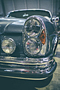 Double headlight of vintage car Mercedes-Benz 250 S - EL000921