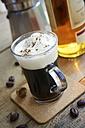 Irish coffee with some chocolate coffee beans and nutmeg - HAWF000001