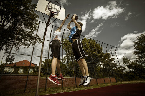 Two young basketball players at duel - GCF000014