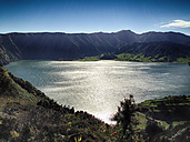 The lake Sete Cidades, volcanic craters, Sao Miguel, Azores, Portugal - ONF000437